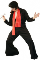 King Of Rock Elvis  Fancy Dress Costume (Black)